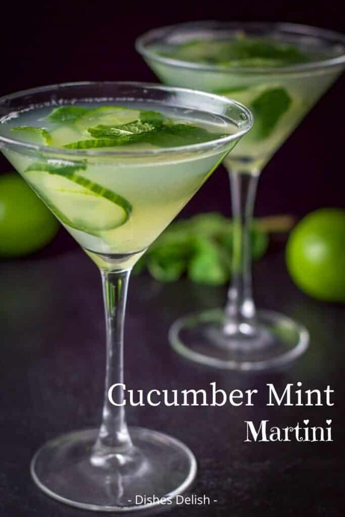 Cucumber Mint Martini for Pinterest 3