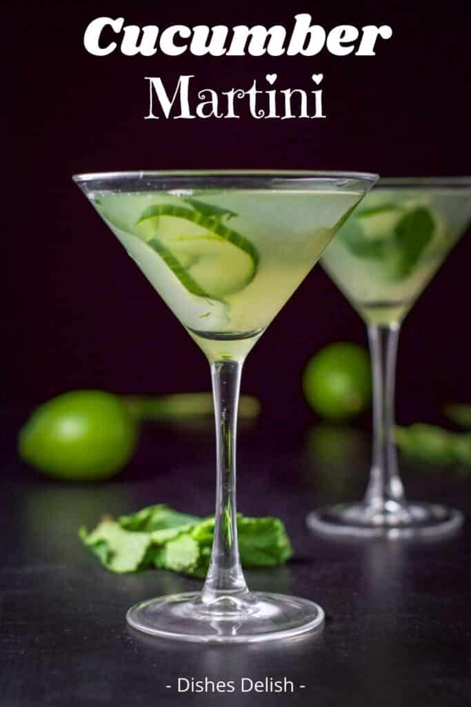 Cucumber Mint Martini for Pinterest 6
