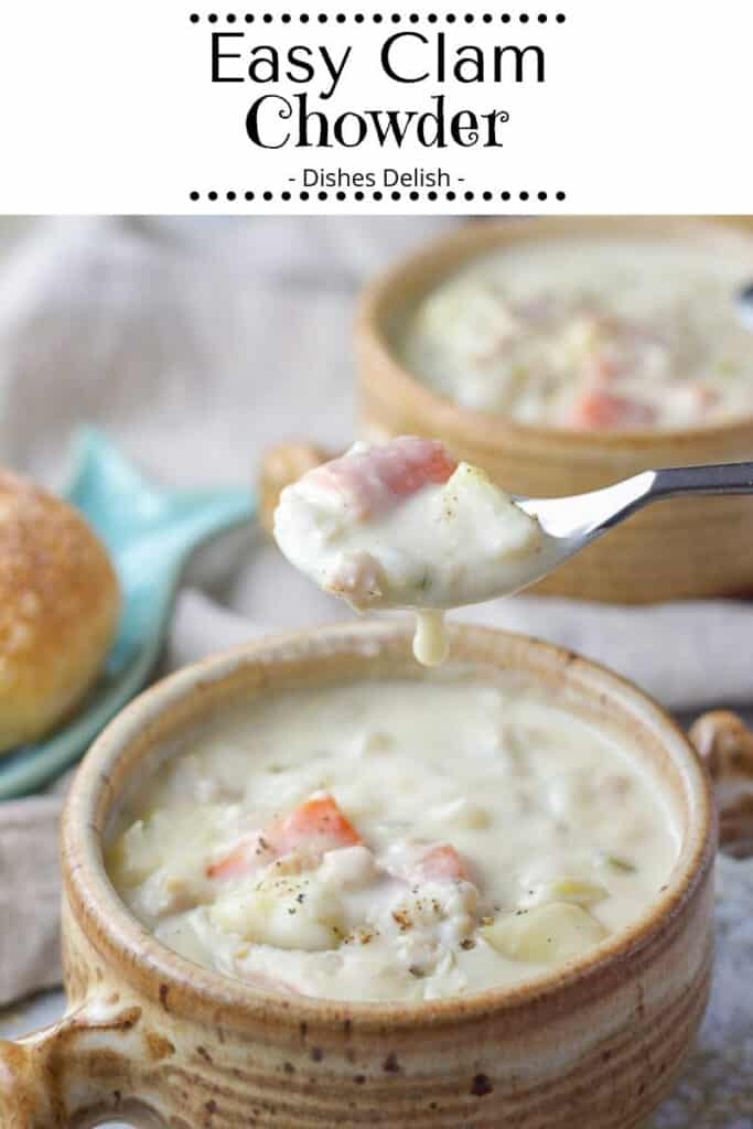 Easy Clam Chowder for Pinterest 2