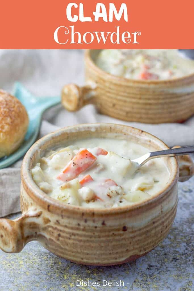 Easy Clam Chowder for Pinterest 3