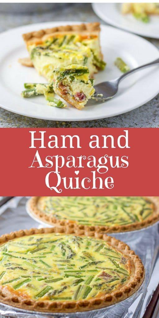 Ham and Asparagus Quiche for Pinterest 1