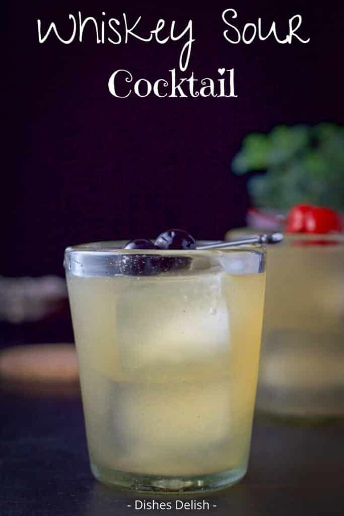 Whiskey Sour Cocktail for Pinterest 2