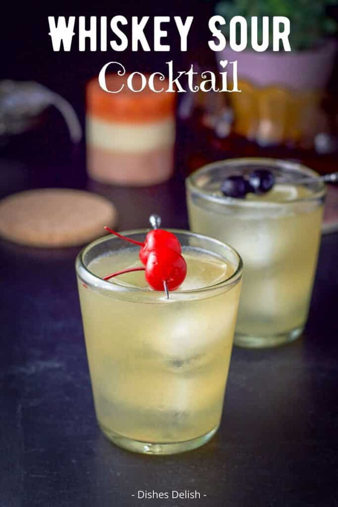 Whiskey Sour Cocktail for Pinterest 3