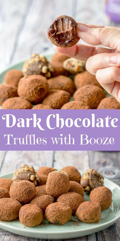 Dark Chocolate Truffles for Pinterest 1