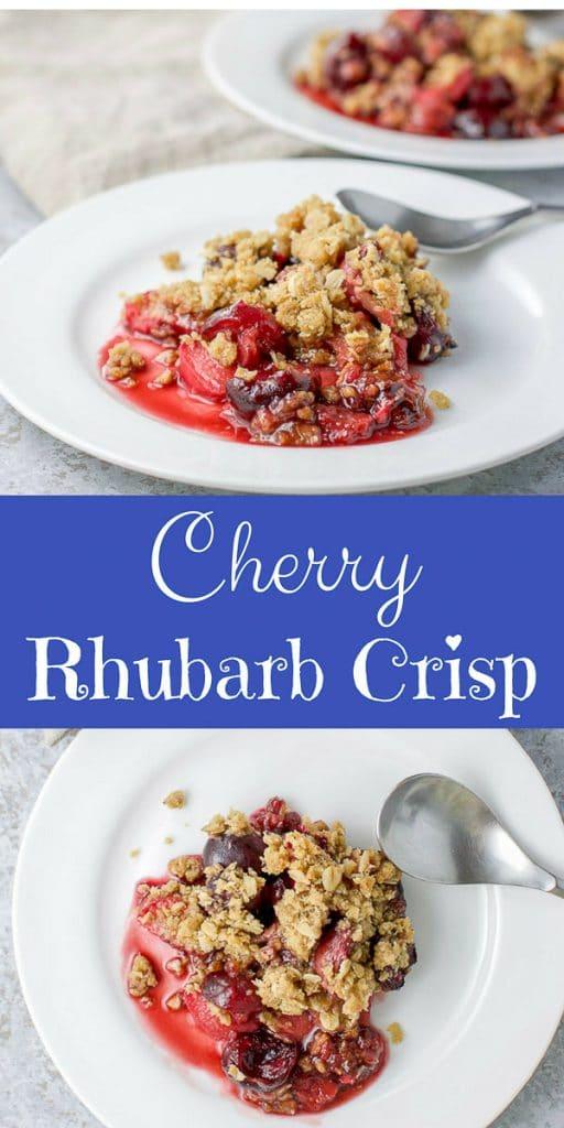 Cherry Rhubarb Crisp for Pinterest