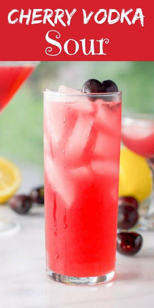 Cherry Vodka Sour for Pinterest