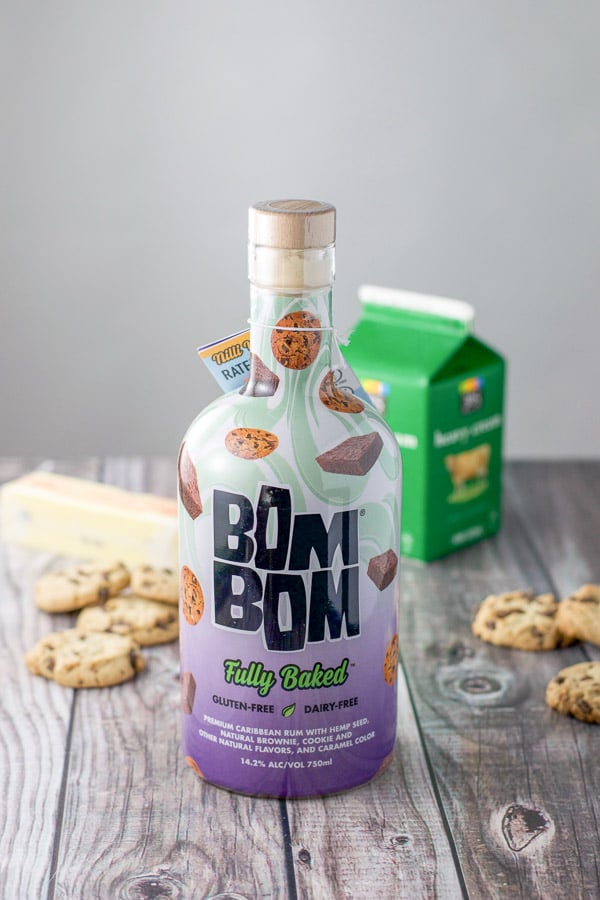 Bom Bom liqueur, chocolate chip cookies, butter and heavy cream for the chocolate truffles