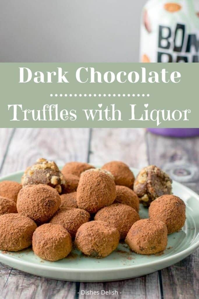 Dark Chocolate Truffles for Pinterest 2