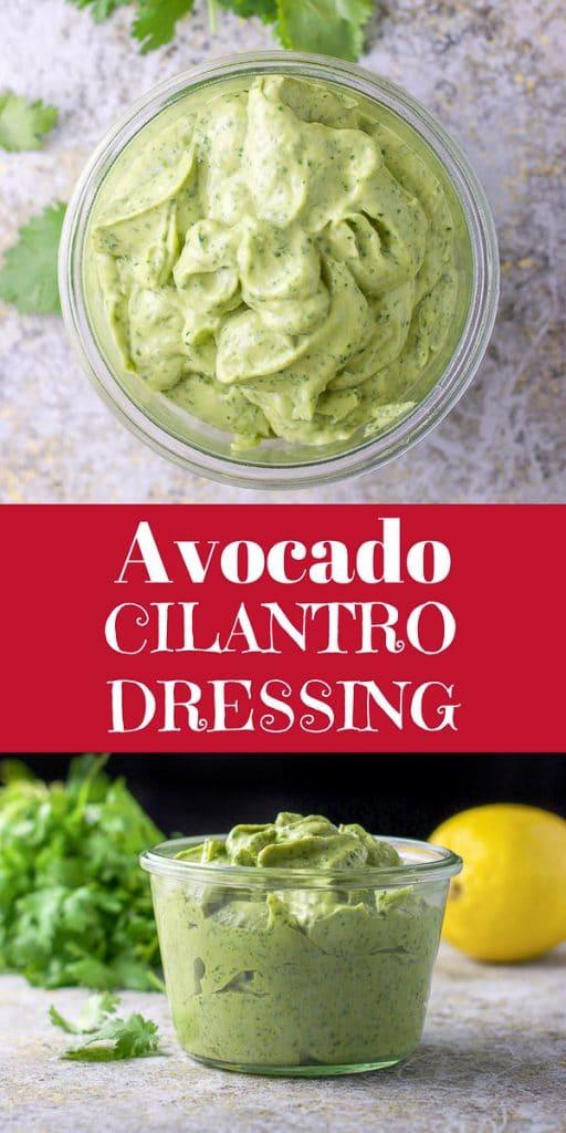 Avocado Cilantro Dressing for Pinterest