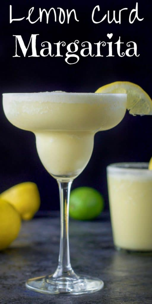 Lemon Curd Margarita for Pinterest