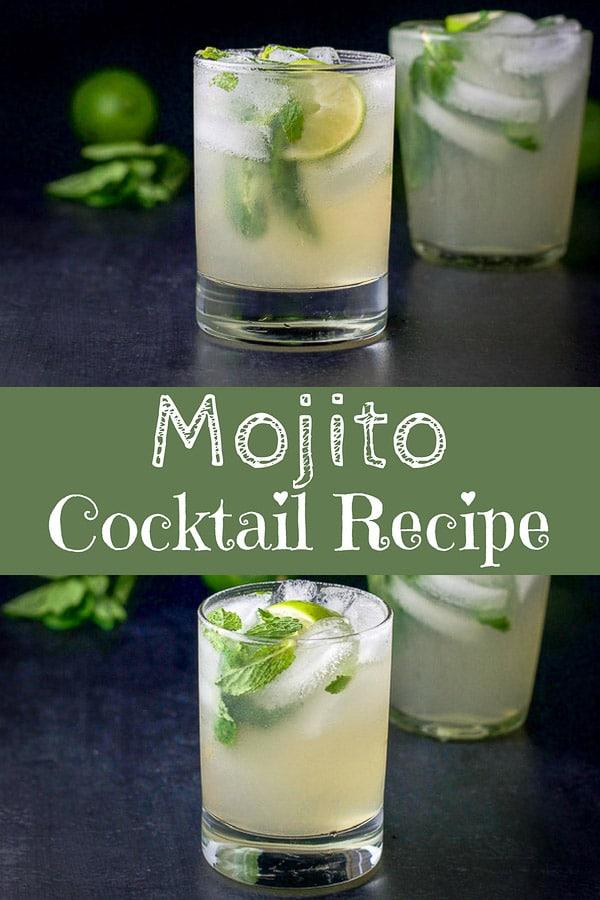 Mojito Cocktail Recipe for Pinterest 1