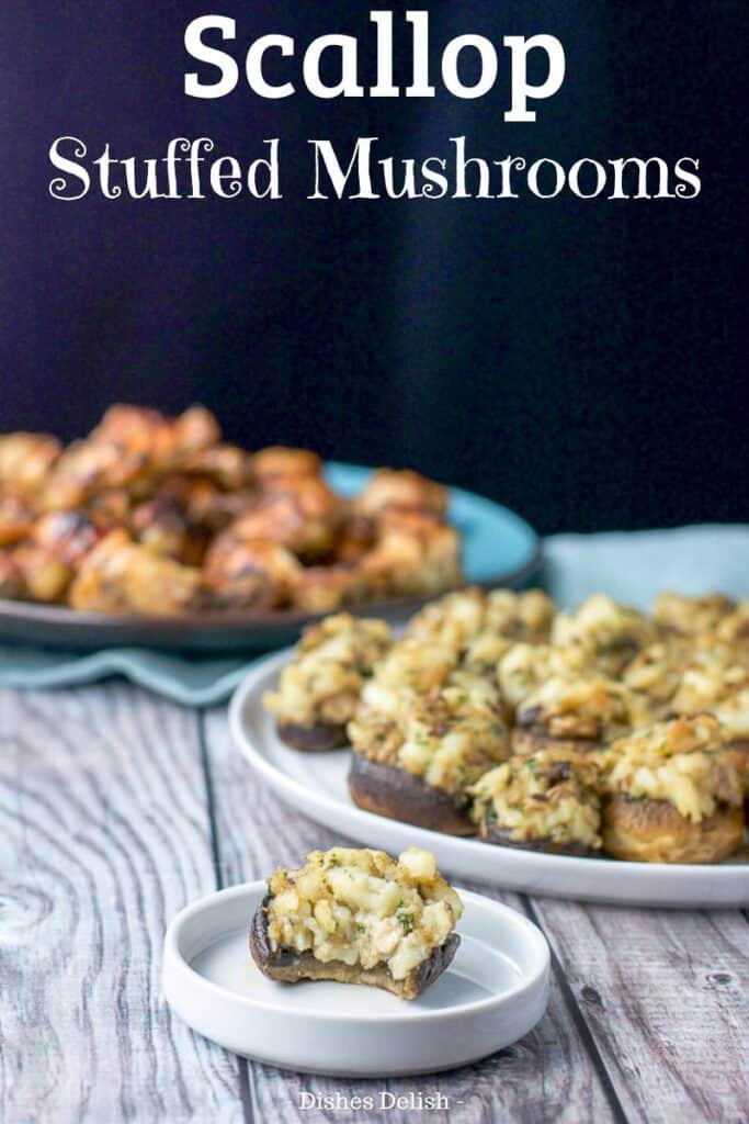Scallop stuffed mushrooms for Pinterest 5
