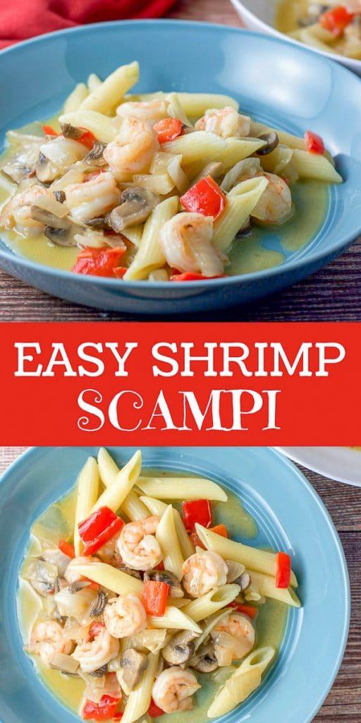 Easy shrimp scampi for pinterest