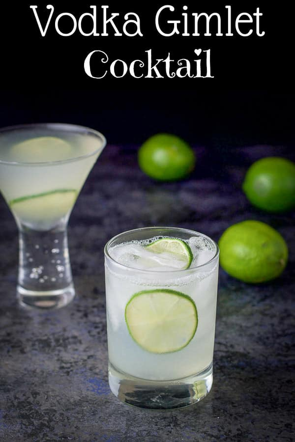 Vodka Gimlet Recipe for Pinterest