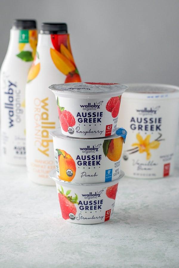 Aussie Greek yogurts and kefir for the parfait