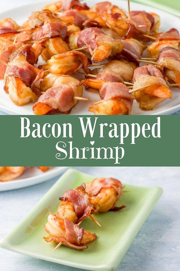 Bacon Wrapped Shrimp for Pinterest