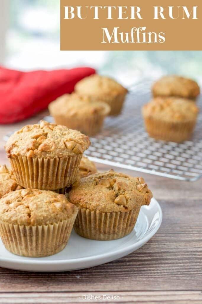 Butter Rum Muffins for Pinterest 2