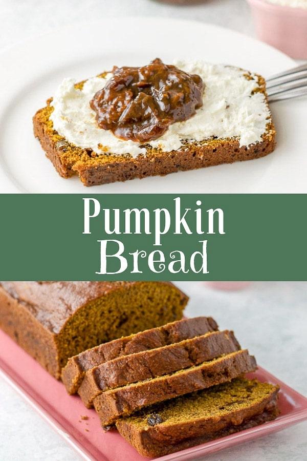 Easy Pumpkin Bread for Pinterest
