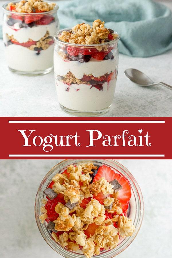 Yogurt Parfait for Pinterest