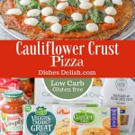 Cauliflower Crust Pizza for Pinterest 2