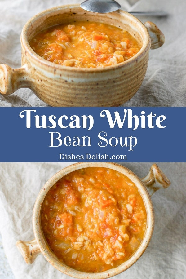 Tuscan White Bean Soup for Pinterest
