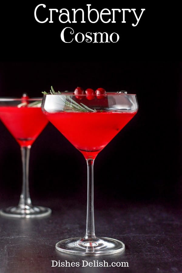 Cranberry Cosmo for Pinterest