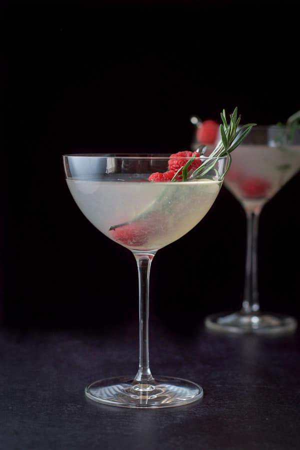 Vertical view of the mistletoe martini