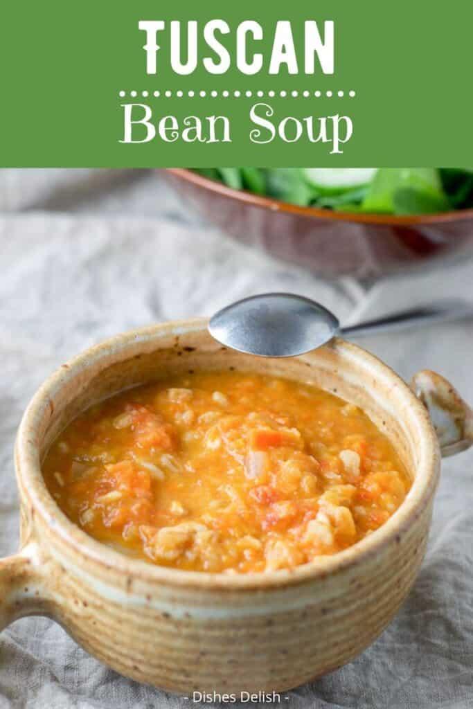 Tuscan White Bean Soup for Pinterest 3