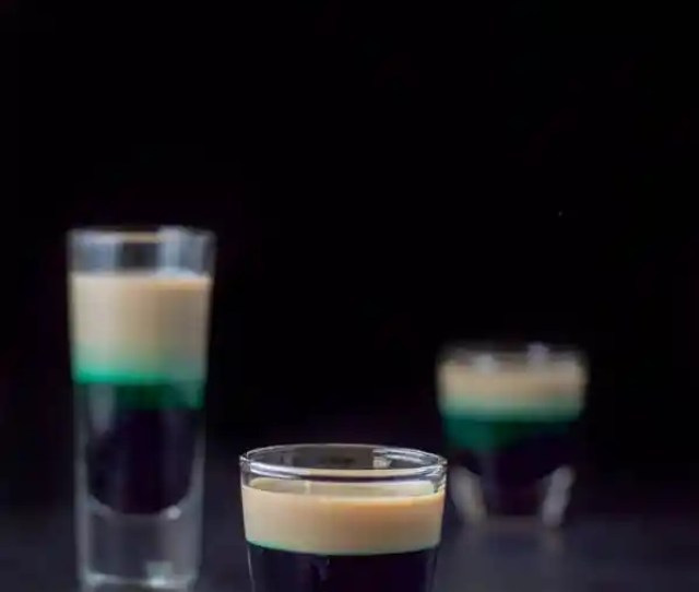 Vertical View Of The Short Glass Filled With The After Eight Shot