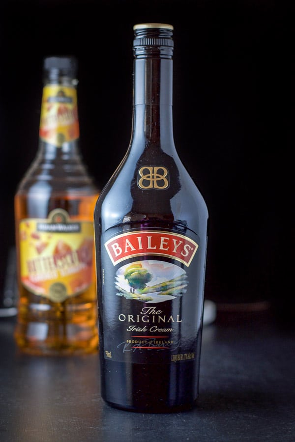 Baileys and butterscotch schnapps for the Butterball shot