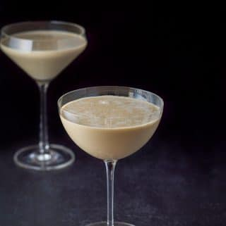 Another view of the chocolate eggnog martini