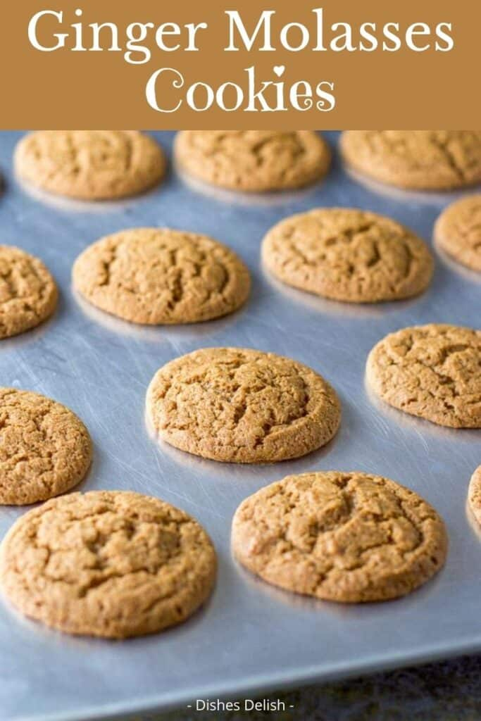 Ginger Molasses Cookies for Pinterest 2