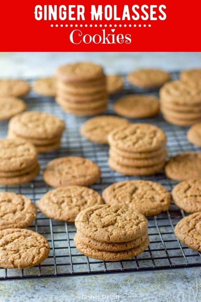Ginger Molasses Cookies for Pinterest 3