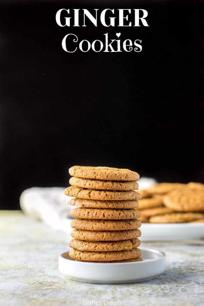 Ginger Molasses Cookies for Pinterest 4