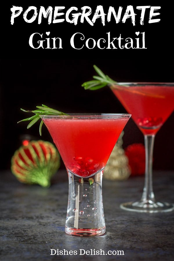 Pomegranate Gin Cocktail for Pinterest