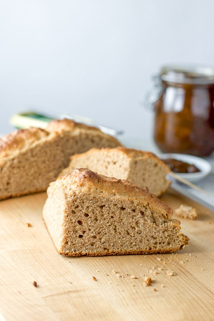 Closer view of the bread so you can see the texture