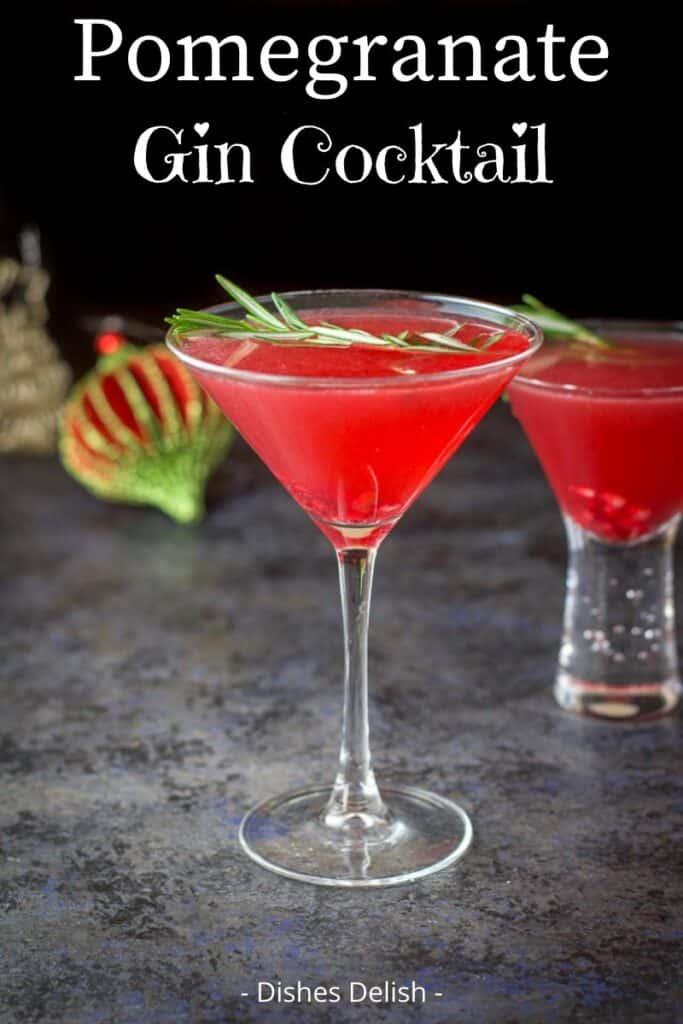Pomegranate Gin Cocktail for Pinterest 2