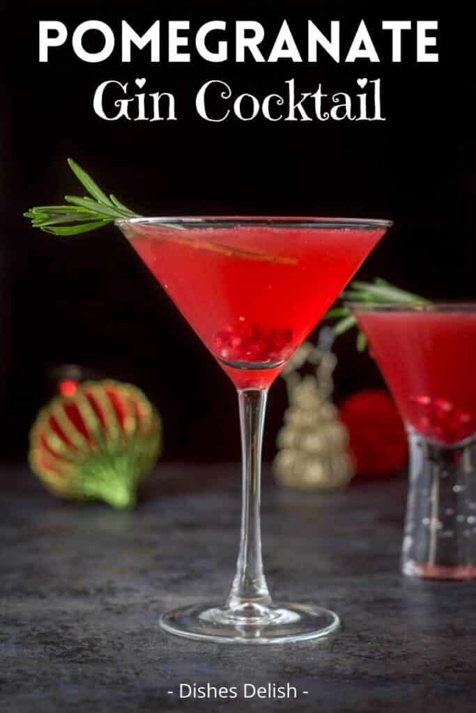 Pomegranate Gin Cocktail for Pinterest 3