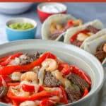 Steak and Shrimp Fajitas for Pinterest 2