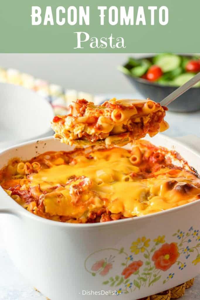 Bacon Tomato Pasta for Pinterest 2