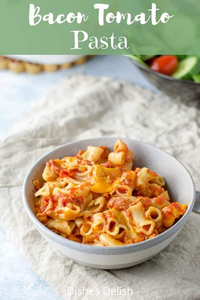 Bacon Tomato Pasta for Pinterest 3