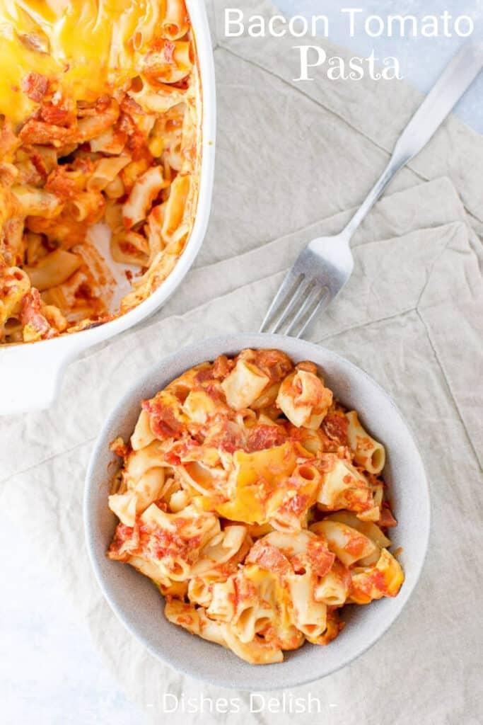 Bacon Tomato Pasta for Pinterest 4