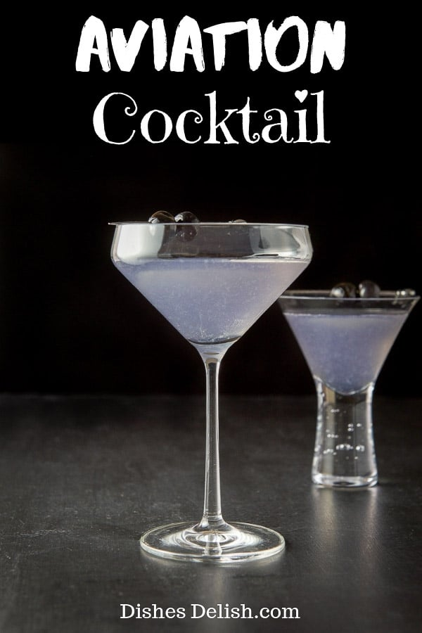 Aviation cocktail recipe for Pinterest
