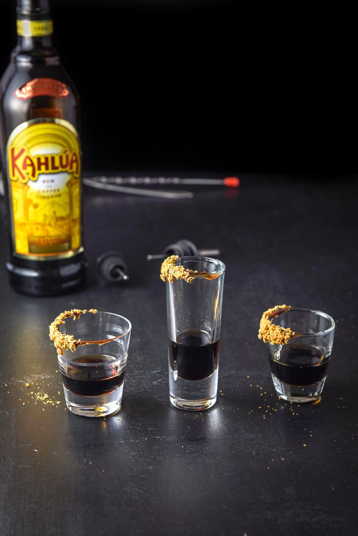 Kahlua poured for the butterfinger shot
