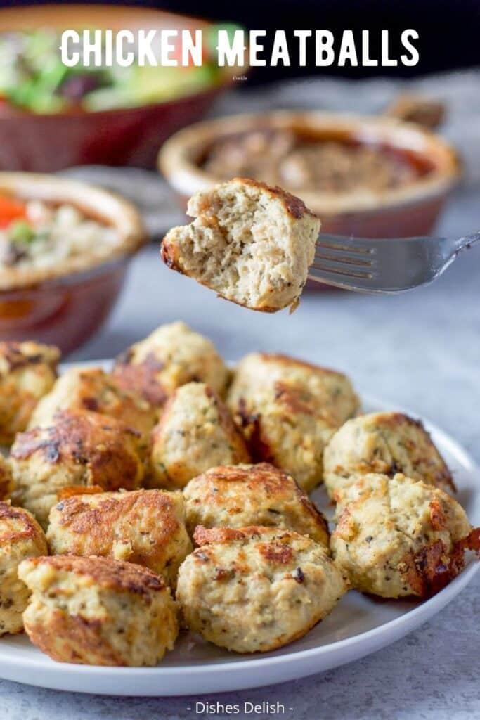 Chicken Meatballs for Pinterest 3