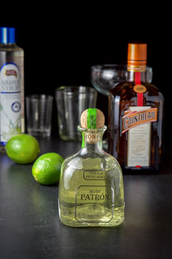 Jalapeño infused tequila, limes, Cointreau and simple syrup for the margarita