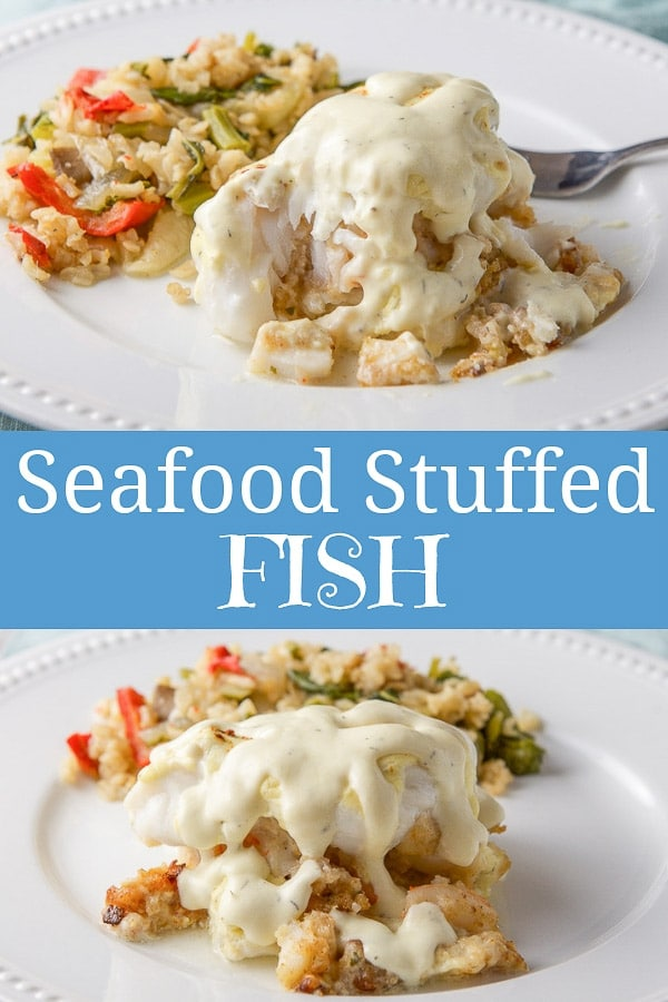Seafood Stuffed Fish for Pinterest