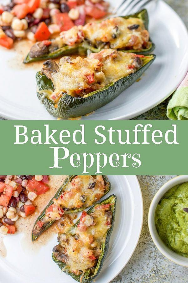 Baked Stuffed Peppers for Pinterest