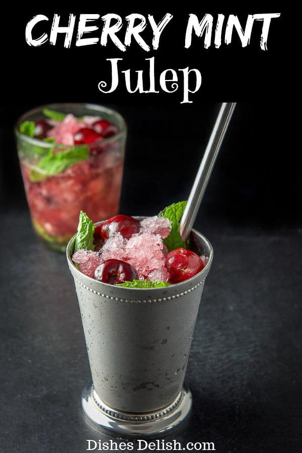 Cherry Mint Julep for Pinterest