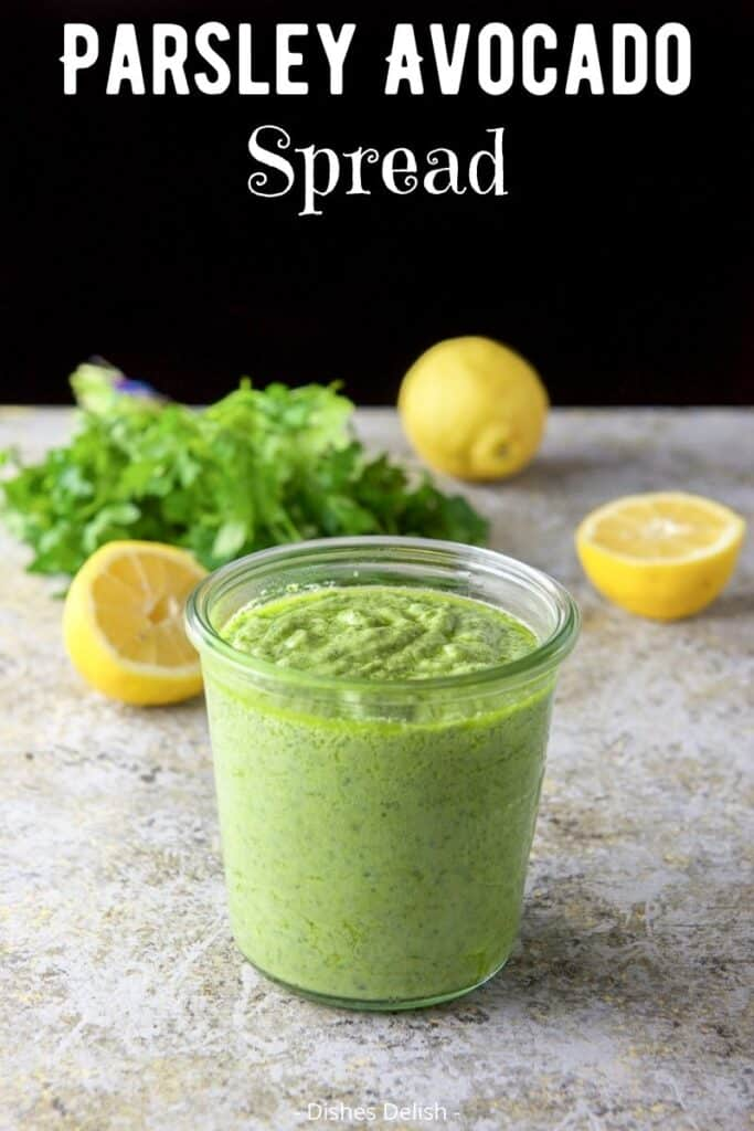 Parsley Avocado Spread for Pinterest 3